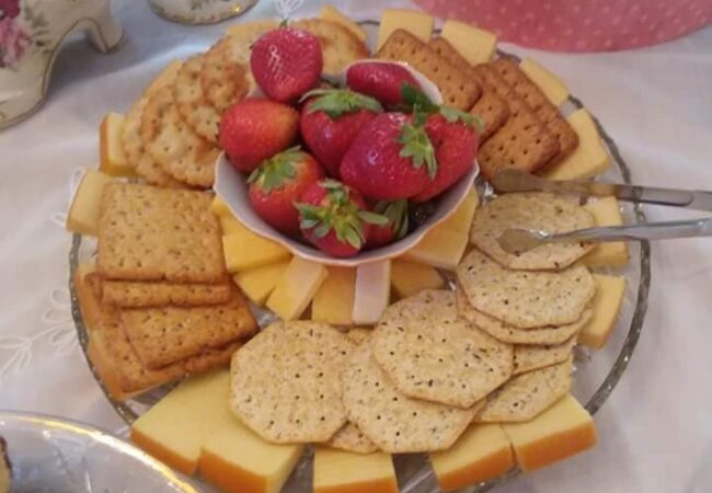 Cheese and Crackers and Fruit Tower