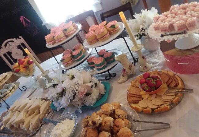 High Tea spread of Sandwiches and pastries