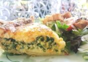 SLICE OF QUICHE - Quiche of the day with spring salad